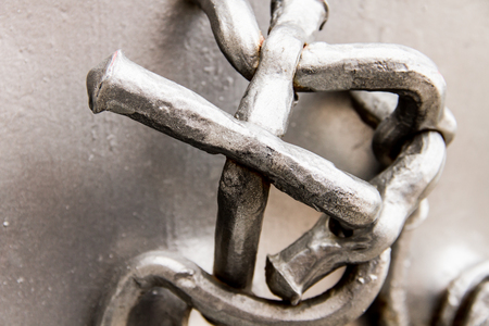 macroshot: A macroshot of shiny metal abstract ornament