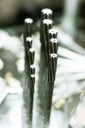 Conjunto de fresas de metal para la produccion pesada