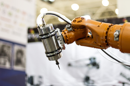 robot hand: Automatic robot hand for   welding heavy industry Stock Photo