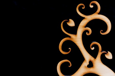 symbolize: Decorative wooden branches of tree symbolize love