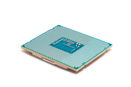 hard component: Powerful central micro processor for modern computer. Stock Photo