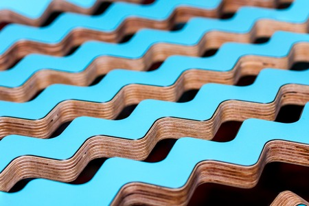 lath in modern: Abstract background. Colorful wooden zigzagr lines