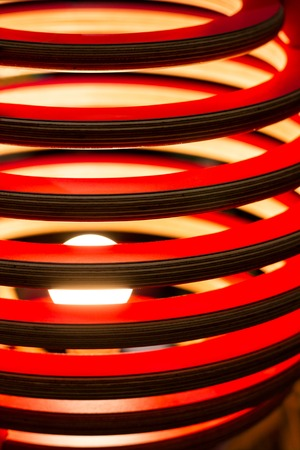 luminaire: Colorful wooden decorative interior finish. Abstract parallel lines.