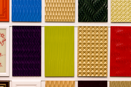 azulejos de cerámica de colores. texturas de la superficie. Foto de archivo