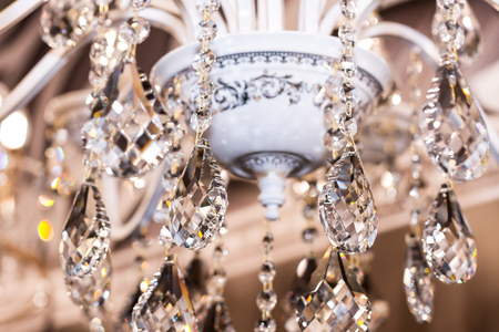 strass: Elements of crystal strass white lamp Stock Photo