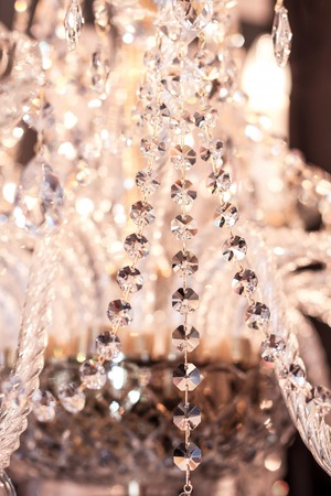 gleams: Elements of crystal strass white lamp Stock Photo