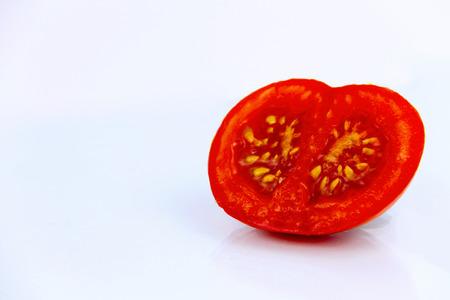 Environmental sciences. Gmo tomato isolated on white background