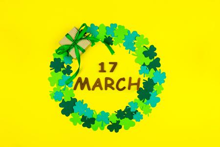 Saint Patrick's Day. Wooden letters