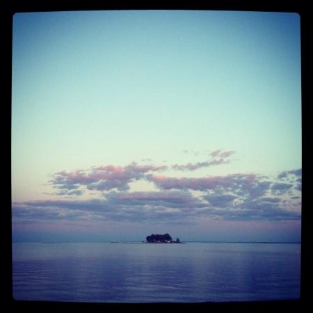 Sunset on beach 版權商用圖片