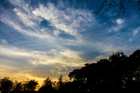 evening sky: Light evening sky after sunset