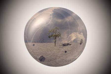 Globe model shows a comparison of nature.