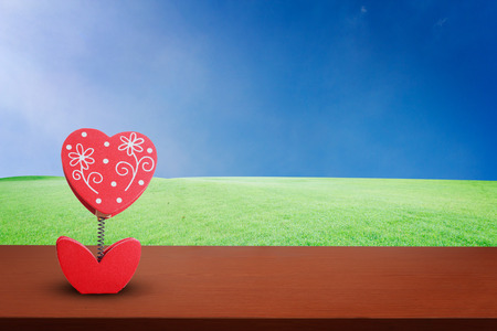 heart love on background