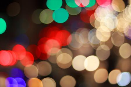 color bokeh light from car