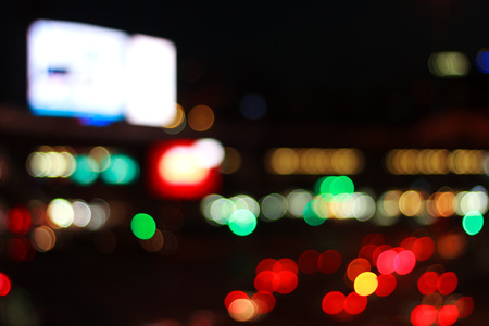 The color bokeh light from city