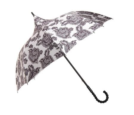 Large umbrella isolated on white Stock Photo