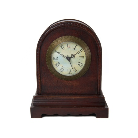 Old antique clock isolated on white Stock Photo