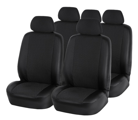 Car seats isolated on white Stock Photo