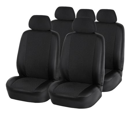 back seat: Car seats isolated on white Stock Photo