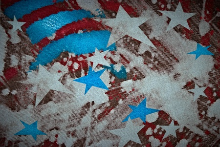 American flag colors painted on canvas  symbolizing 4th of July independence day