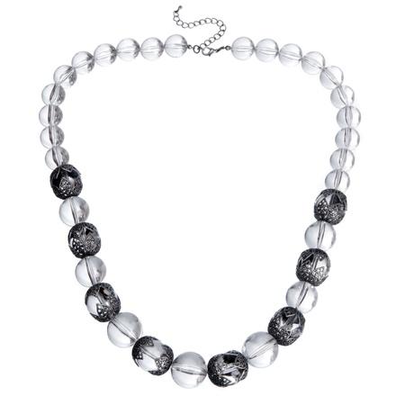 collares: collar de vidrio aislado en blanco Foto de archivo