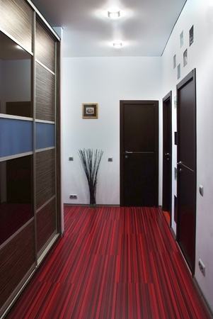 Interior of a modern design empty hallway