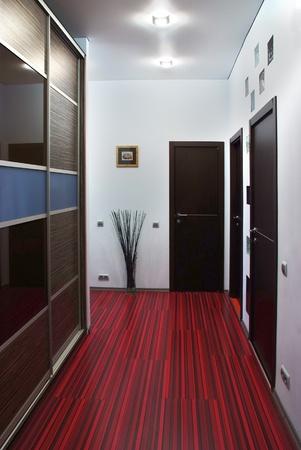 closet door: Interior of a modern design empty hallway