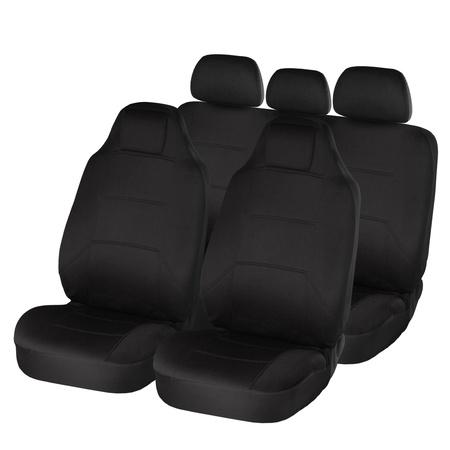Black ergonomic car seats isolated on white