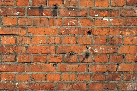 red old brick textured wall background Stock Photo - 11141563