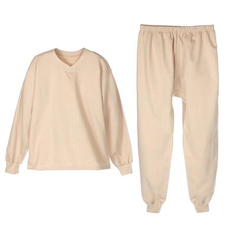 ropa interior: conjunto de ropa interior de abrigo de invierno para los hombres beije