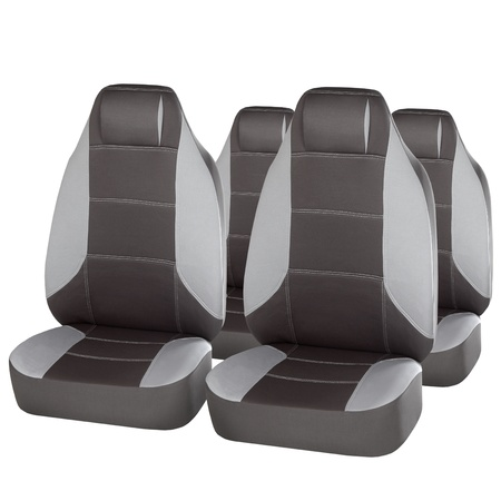grey ergonomic car seats isolated on white