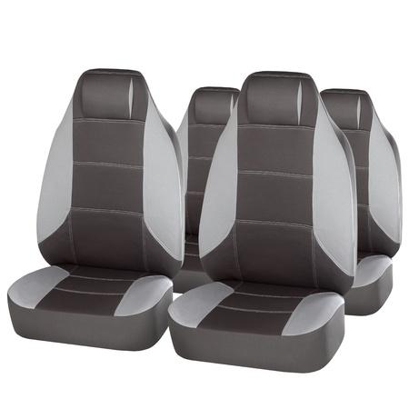 grey ergonomic car seats isolated on white photo