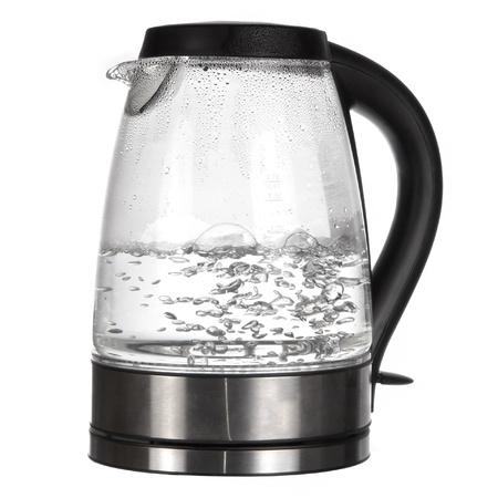 Bouilloire d'eau bouillante isolé sur blanc Banque d'images - 12692493