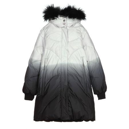 winter coatfor girl isolated on white background photo