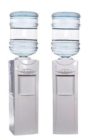 dispensador: Enfriador de agua aisladas en blanco Foto de archivo