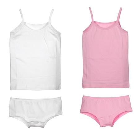 set of girls underwear isolated over white background Stock Photo