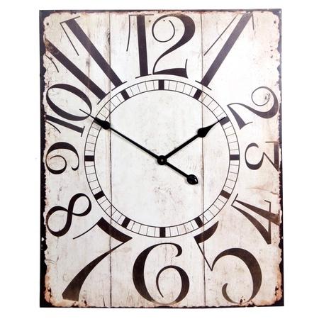 vintage rectangular clocks isolated on white Stock Photo