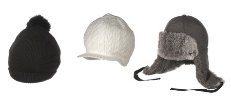 set of hats isolated on white photo