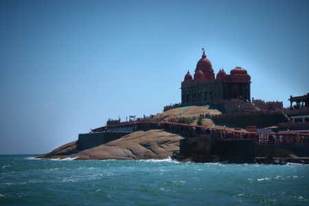 island with Swami Vivekananda memorial, Mandapam, Kanyakumari, Tamil Nadu, India  photo