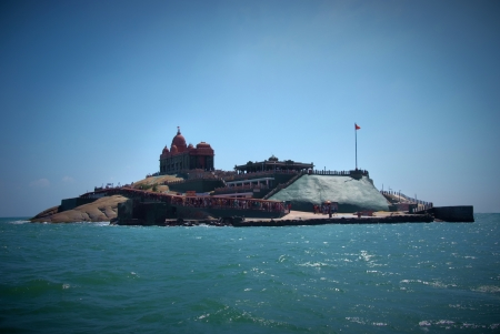 Small island with Swami Vivekananda memorial, Mandapam, Kanyakumari, Tamil Nadu, India photo