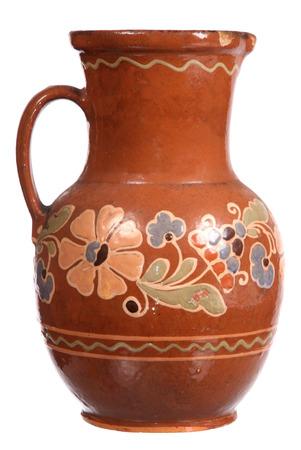 Ceramic jug isolated on white