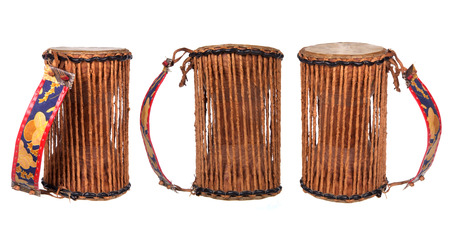 nigerian drum isolated on white background Фото со стока