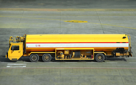 big fuel truck at the airport