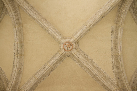top of ancient vaulted ceiling photo