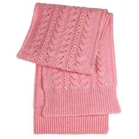 Pink female scarf isolated on white photo