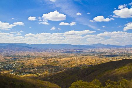 oaxaca: Oaxaca city view from Monte Alban Stock Photo