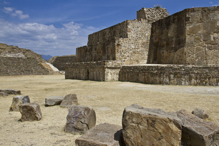 The pyramids and the ruins of Monte Alban, Oaxaca, Mexico photo