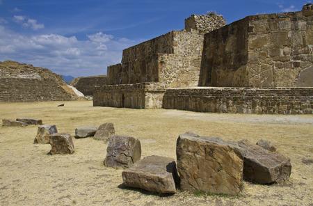 The ruins of Monte Alban, Oaxaca, Mexico photo
