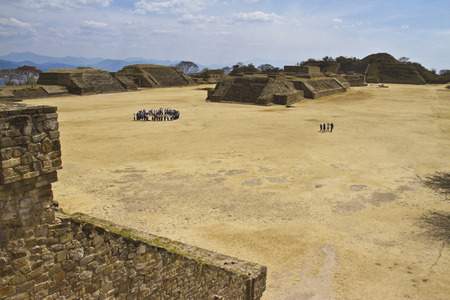 Monte Alban in Oaxaca, Mexico. Point of interest photo