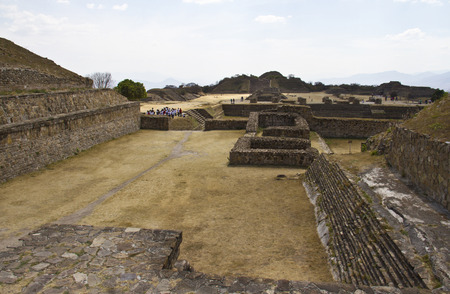 Pyramids of Monte Alban, Oaxaca, Mexico. photo