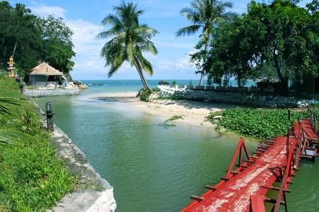 river scape: sea scape with small river